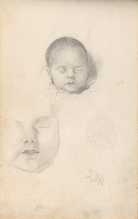 Thomas Bock's Sketchbook of postmortem studies, c1835.