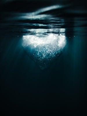 Submerged (2017) An underwater perspective of a floating iceberg, Jökulsárlón, Iceland