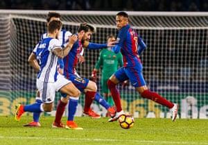 Lionel Messi struggles to make inroads for Barça.