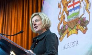 Alberta's premier Rachel Notley