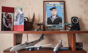 A photograph of Andrey Lozinsky at his mother's, home in Ukraine