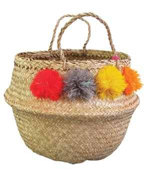Pompom basket, £44 edit58.com
