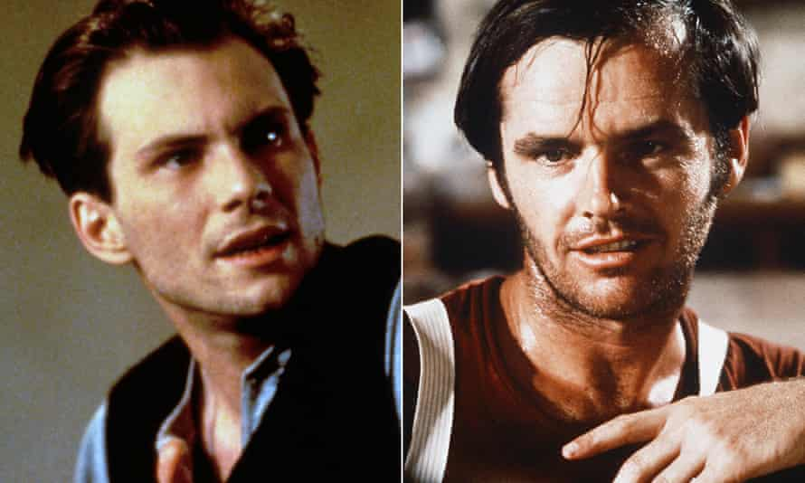 The eyebrows have it: Christian Slater (left) and Jack Nicholson
