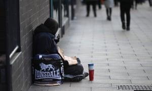 Homeless man Manchester