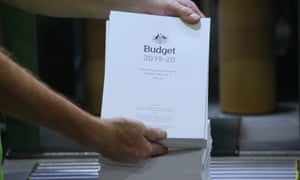 The 2019 budget papers roll off the presses in Canberra on Sunday in preparation for Tuesday's budget