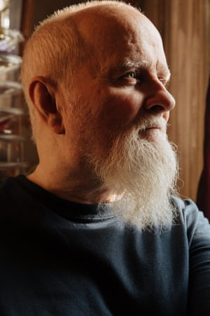 Tommy Lanigan-Schmidt, an artist, in his apartment in Manhattan, NY
