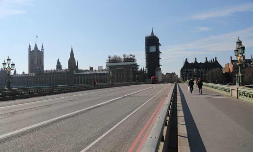 Westminster Bridge, London, 26 March.