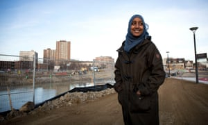 Nejat Khalid, 18, on the Regent Park building site where she once played as a child.