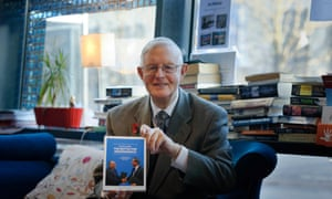 Gordon Wilson with his book, The Battle for Independence, in 2014.
