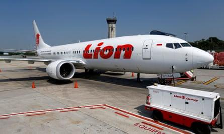 A Lion Air Boeing 737 Max 8 plane