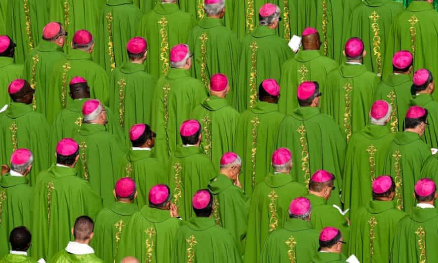 Priests in Saint Peter's Square, Vatican City.