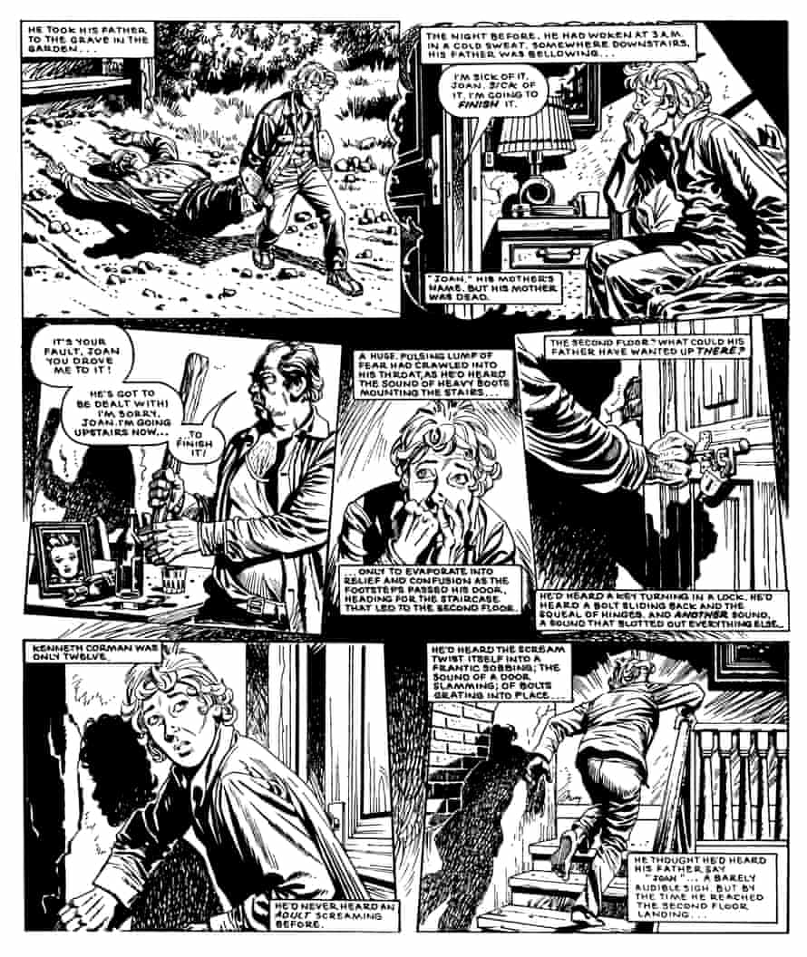 A page from Alan Moore's comic Monster. Monster was the series Moore created for the horror-themed weekly anthology Scream! and is the only time the creator of Watchmen worked on a series with John Wagner, the creator of Judge Dredd.