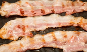 Bacon cured with nitrites has been blamed for cauing colorectal cancer.