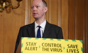 Sir Chris Whitty, England's chief medical officer, appearing at a coronavirus daily briefing.