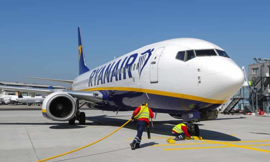 Ryanair flight to Frankfurt