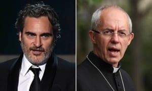 Joaquin Phoenix and Justin Welby