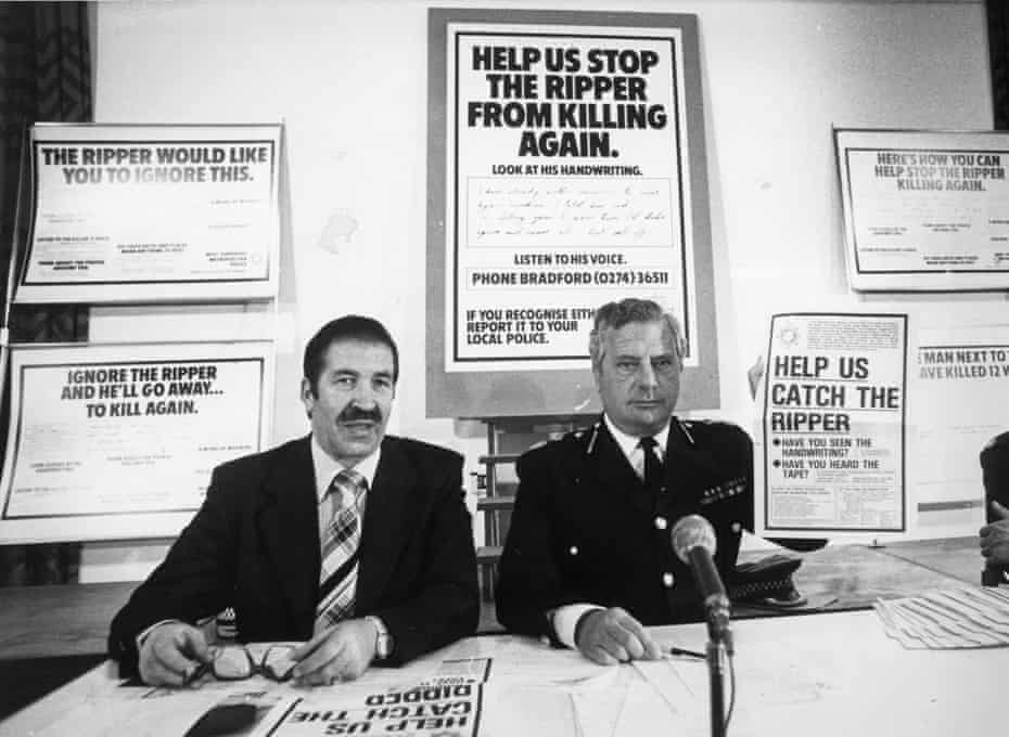 DCS Jim Hobson, left, and the West Yorkshire chief constable Ronald Gregory in 1979.