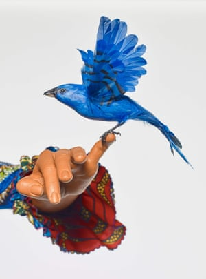 Detail from Mrs Pinckney and the Emancipated Birds of South Carolina, 2017, by Yinka Shonibare.