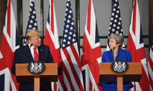 President Donald Trump and Theresa May during their joint press conference at the Foreign & Commonwealth Office