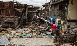 Aftermath of Hurricane Matthew in Jérémie, Haiti