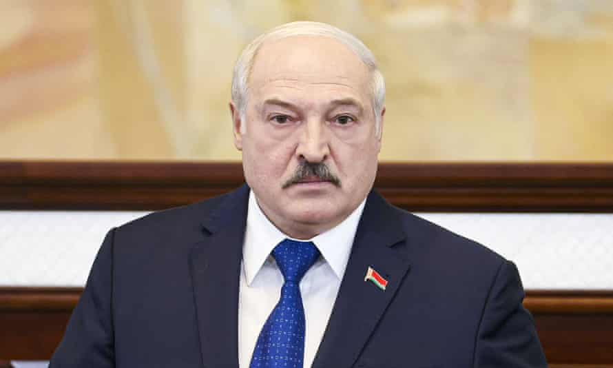 Alexander Lukashenko addresses parliament on 26 May. He accused the west of launching 'hybrid modern war' over the arrest of journalist Raman Pratasevich.