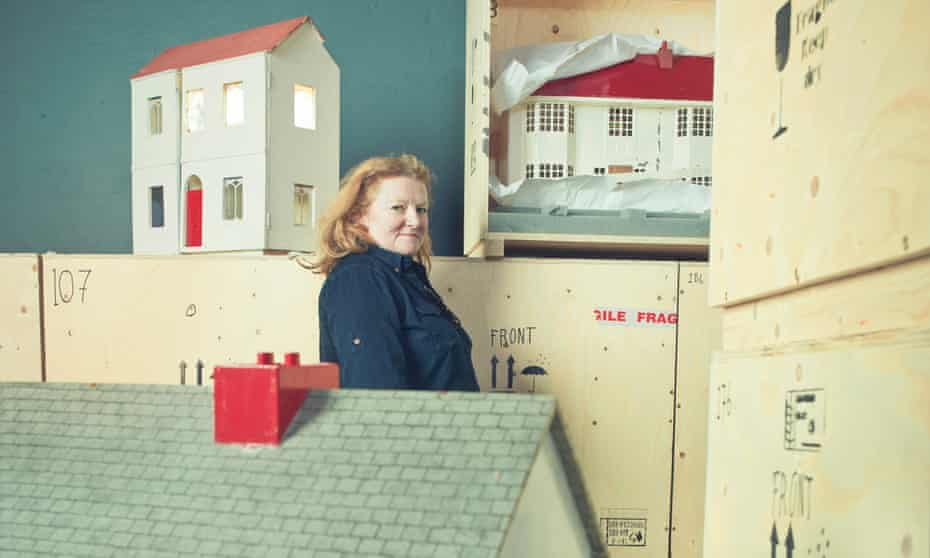 Rachel Whiteread shot  at the Museum of Childhood while her Dollhouses were being installed.