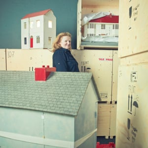 Rachel Whiteread was photographed at the V&A Museum of Childhood where she talked about doll's houses and fellow young British artists.