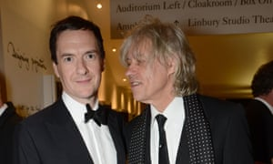 George Osborne and Bob Geldof at the GQ Men of the Year awards in London.