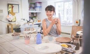 Nichola Naylon in her Pwllheli  kitchen.