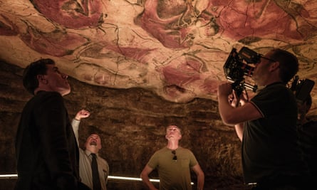 Brydon and Coogan filming at the Altamira caves, in northern Spain