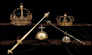 Crown jewels from the Swedish royal family's collection.