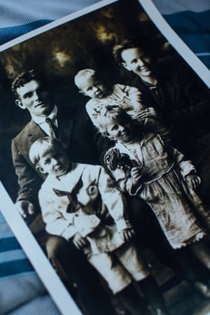 A family photo of Rose Torphy (pictured front) and her parents and siblings.