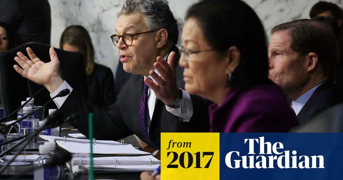 Angry Al Franken hammers Facebook lawyer at hearing over