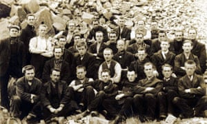 Conscientious objectors at Dyce Camp in Aberdeen, where they sentenced to 10 years of hard labour.