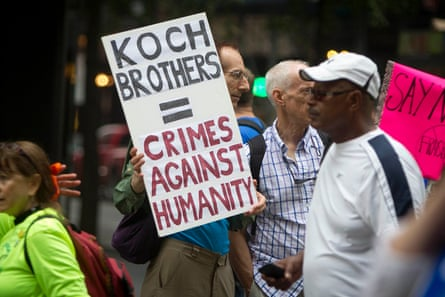 Anti-Koch sentiment at a climate march in New York City.