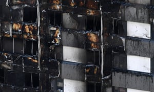 White cladding on Grenfell Tower