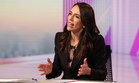 Jacinda Ardern in the TVNZ final leaders debate