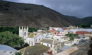 Jamestown, capital of the remote Atlantic Ocean island of St Helena.