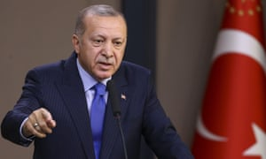 Recep Tayyip Erdoğan, Turkey's president, says jailed foreign militants may be released and sent to Europe.