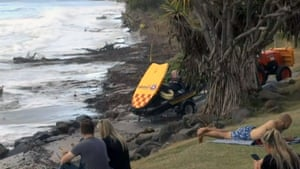 Worsening coastal erosion threatens the main beach in the popular tourist town.