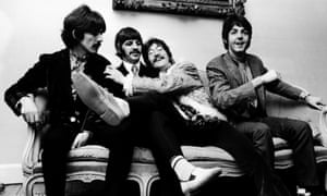 The Beatles at the press launch for their album Sgt Pepper's Lonely Hearts Club Band