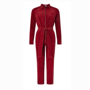 Red cord jumpsuit, £70, monsoon.co.uk.