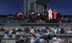 Garrison Keillor hosts his final episode of A Prairie Home Companion, at the Hollywood Bowl in Los Angeles.