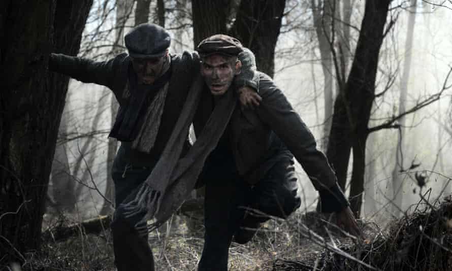Grim thriller … Noel Czuczor and Peter Ondrejička in The Auschwitz Escape