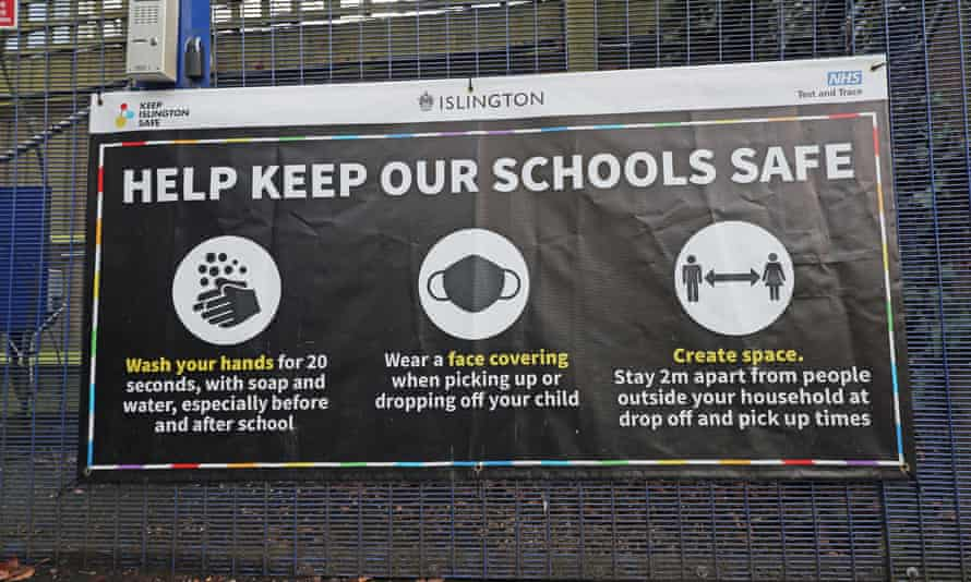A sign outside a primary school in north London