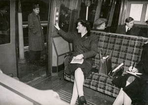 The interior of an Amersham [Metropolitan] line carriage, January 1946
