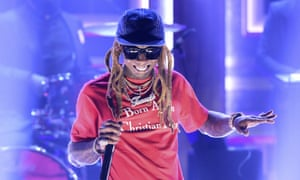 Lil Wayne performing on The Tonight Show last week.