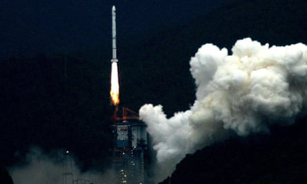 China's first lunar probe, Chang'e I, lifts off from its launch pad in Xichang, Sichuan province, in 2007