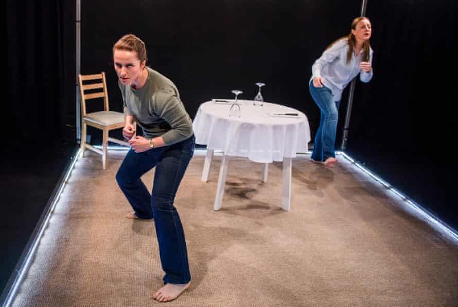 Eilidh Talman as Jen and Christina Berriman-Dawson as Suzy in Rattle Snake.