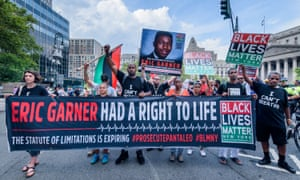 A protest calling for justice in the killing of Eric Garner